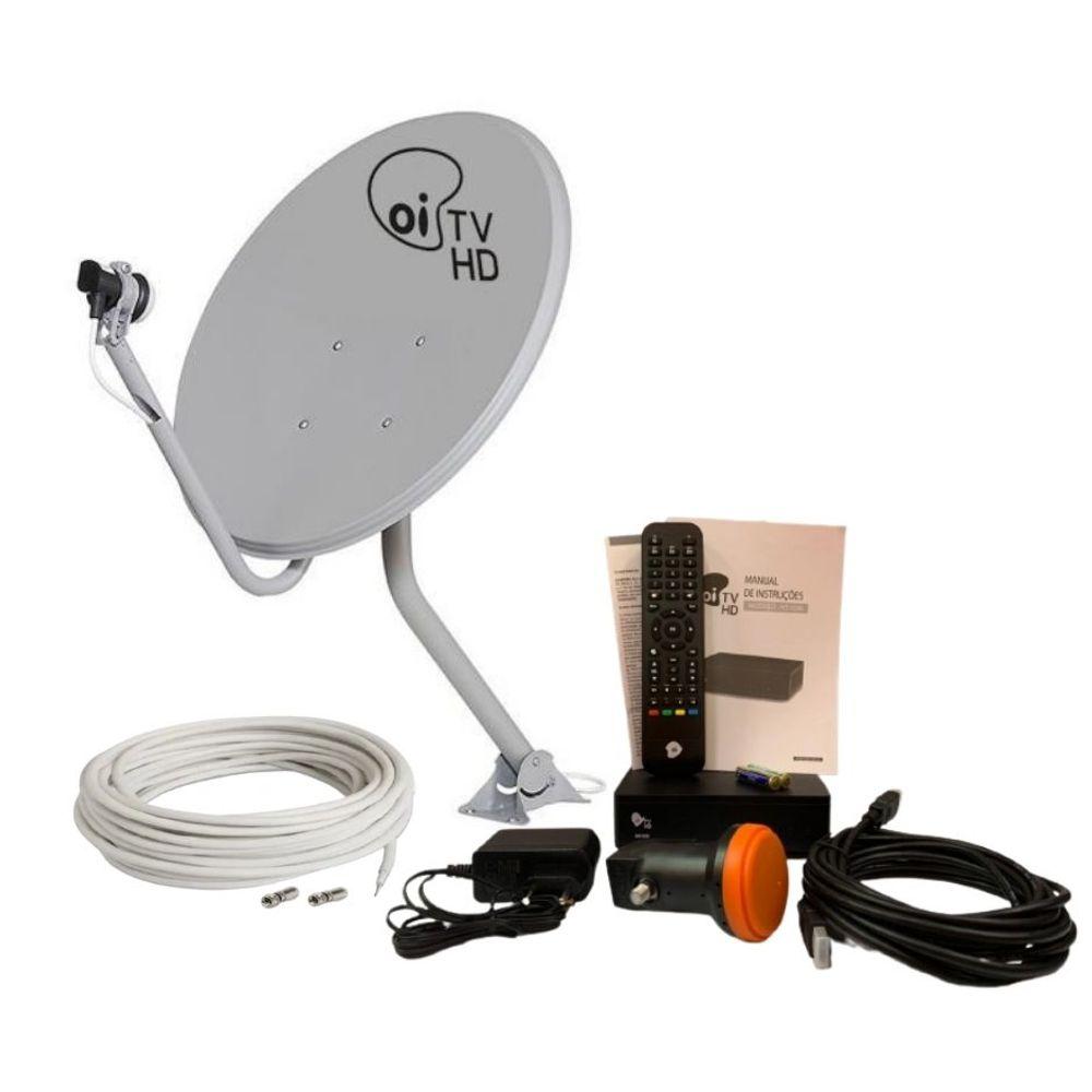 Kit Oi Tv Livre Hd Recon Completo C/ Ant 60Cm e Acessórios Unidade